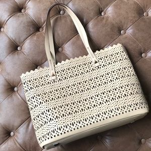 "Stella & Dot Avalon Tote, ""Blush"" (nude/tan color)"